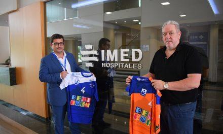 El BM. Benidorm renueva su acuerdo de colaboración con el IMED Levante.