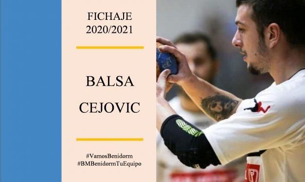 El extremo Balsa Cejovic nuevo jugador del BM Benidorm