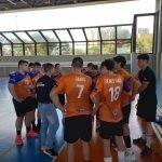 Buenas fases de juego durante el partido del cadete masculino
